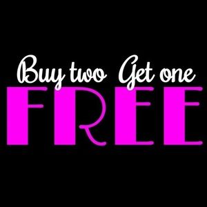 Buy any 2, get one free!